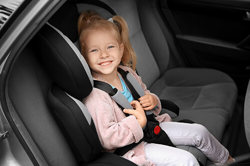 Child Riding in a Car Seat
