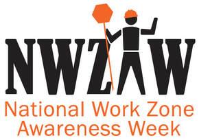 national work zone awareness week logo